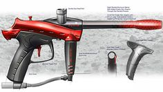 JT Sports Paintball Guns by Formation Design Group, via Behance