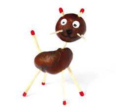Kastanien-Figuren - PDF- Seit Generationen basteln Kinder aus Kastanien und Eicheln witzige Figuren und phantasievolle Spinnen, Raupen, Igel uvm. Die Kastanienfrüchte werden angebohrt und mit Zahnstochern, Streichhölzern oder auch durch Kleben verbunden. Dieses PDF enthält 40 Fotos der beliebtesten Figuren aus Kastanienfrüchten und Eicheln sowie entsprechende Zeichnungen, auf denen zu sehen ist, wie die Figur zusammengebaut wird.