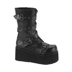 05d6593a640 Men s Demonia Trashville 205 - Black PU Casual Shoes