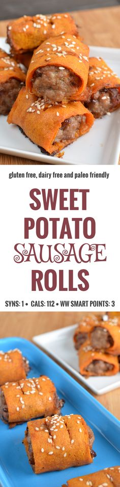 Slimming Eats Sweet Potato Sausage Rolls - gluten free, dairy free, paleo, Slimming World and Weight Watchers friendly