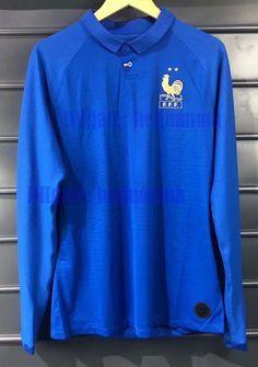 c065ff102 Player version France FFF 100 years long sleeve jersey MBAPPE centenary  jersey 2019 GRIEZMANN POGBA Centenaire Maillot 2019 football jersey