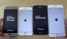 Samsung Galaxy S6 Edge vs Samsung Galaxy S6 vs iPhone 6 vs iPhone 6 Plus Internet Speed Test