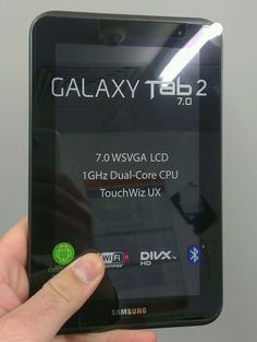 A better photo of the new Samsung Galaxy Tab 2