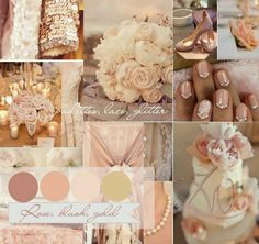 Rose, gold and blush palette