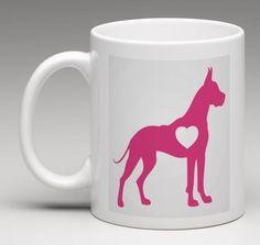I Love My Great Dane Dog Lover Heart 11oz. Coffee Mug Tea Cup