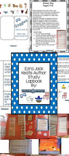 Everything you need for Ezra Jack Keats author study--LAPBOOK, $