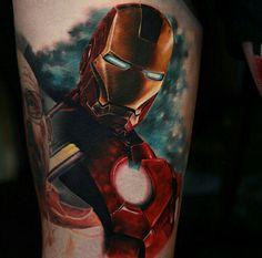 Iron Man tattoo by Richie Bon