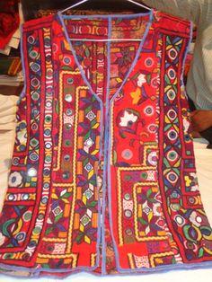 VINTAGE mirror work jackets piece from india by jaisalmerhandloom, $189.00