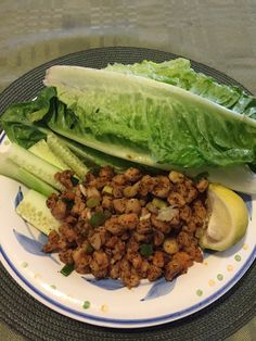 Shrimp lettuce wrap