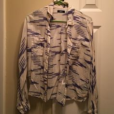 Urban Outfitters blouse Cream and blue striped design button down blouse BDG Tops Blouses