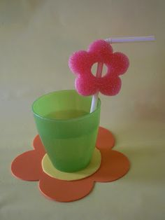 sliced pool noodle - cute! -- Click for more ideas for a party