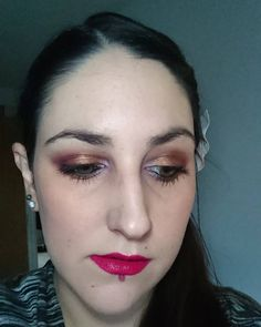 Another look at a recent makeup of the day:  Revlon Colorstay foundation Benefit Hervana blush Morphe 35W palette Makeup Geek Blacklight in the inner corners The Balm Mary Lou-manizer highlighter and Bourjois Plum Plum Girl on the lips (which is more purple in person)!