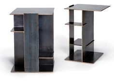 Tuell-reynolds-alisomar-side-tables-mirrored-pair-furniture-side-tables-bronze-industrial