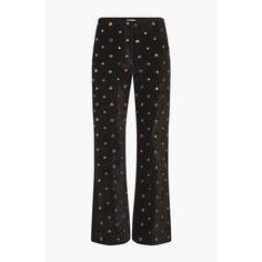 Sonia Rykiel Plain Velvet And Strass Pants ($205) ❤ liked on Polyvore featuring pants, capris, cropped, cropped pants, sonia rykiel pants, cropped capri pants, velvet trousers and velvet pants