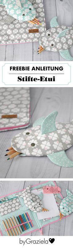 Welches Kind würde sich nicht darüber freuen: Ein süßes Stifte-Etui in Fischform. Eine kostenlose Anleitung für den kleinen Vielfraß von Lila & Mint findet ihr jetzt bei uns auf dem Blog. Passende Stoffe gibts bei uns im Shop. Viel Spaß beim Nachnähen!