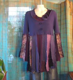 Upcycled Tunic, Recycled Sweaters, Upcycled Clothing, Wearable Art ...
