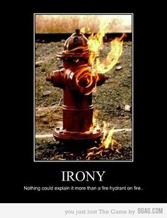 Oh, the only thing that'd make that better is if it was the hydrant in front of the firehouse! Irony can be so delicious! Teaching Verbal, Situational, and Dramatic Irony Trucage Photo, Just For Laughs, Just For You, Haha, Picture Blog, Have A Laugh, Laugh Out Loud, The Funny, Narnia