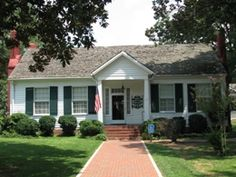 Helen Kellers Birthplace located in Tuscumbia, AL.  This is a neat place to visit.  They put on a Helen Keller play there every summer.  I have never seen it, but I have heard it is an awesome performance of the life of this amazing woman.