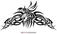 Tribal dragon tattoo design Dragons, Black amp; White   tattoos picture tribal dragon tattoo