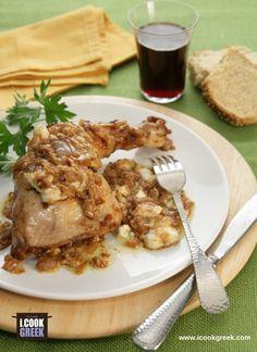 Τα Μπαρδουνοχώρια είναι μια μικρή σειρά από ορεινά χωριά μεταξύ Σπάρτης και Γυθείου και όπου μαγειρεύεται το κοτόπουλο με αυτή την ασυνήθιστη συνταγή Pork, Beef, Chicken, Recipes, Pork Roulade, Pigs, Rezepte, Ripped Recipes, Recipe