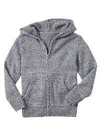 Marled zip sweater