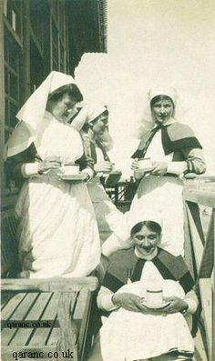 QAIMNS nurses WWI. [World War I Nurses were members of the Queen Alexandra's Imperial Military Nursing Service (QAIMNS) and there were about 10,000 regular and reserve QAs serving in countries such as France, India, East Africa, Italy, Palestine, Egypt, Mesopotamia, Salonika and Russia.]