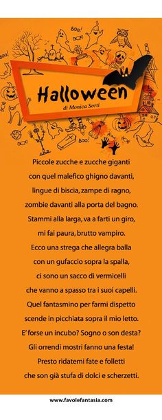 Halloween Rhymes, Halloween Activities, Halloween Crafts, Halloween Party, Activities For Kids, Diy And Crafts, Crafts For Kids, Learning Italian, Thanksgiving Crafts