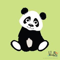 Panda Decal Panda Vinyl Wall Decal for Nursery by wordybirdstudios, $19.95