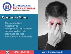 There are many reasons that may arise sinus complications. To Avoid those complications constitutional Homeopathy is the best choice at Homeocare International. So step into one of our Homeocare International branches and cure yourself from sinus complications with zero side effects. Visit Us @ http://goo.gl/yHCWCr