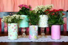 DIY Pretty Recycled Flower Pots Tutorial