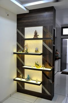 Here you will find photos of interior design ideas. Get inspired! Living Room Partition Design, Living Room Tv Unit Designs, Pooja Room Door Design, Room Partition Designs, Room Partition Wall, Wood Partition, Partition Ideas, Room Interior, Interior Design