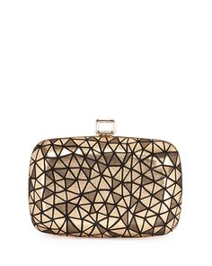 Maxi Botie De Nuit Prism Clutch Bag, Gold/Black - Roger Vivier