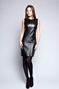 Robe cuir agneau Sarah noir                                                                                                                                                                                 Plus