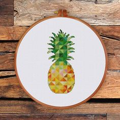 Geometric Pineapple geometric cross stitch pattern minimalist wall decor contemporary house decoration pineapple art kitchen decor