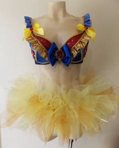 Snow White inspired Dance Costume With Matching by SugarRoxCouture, $125.00