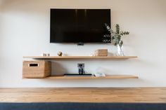 exxpo - sofa fashion Eckbank Exxpo by GalaExxpo by Gala Tv Wall Shelves, Wall Mount Tv Stand, Tv Unit Decor, Diy Crafts For Home Decor, Tv Wall Design, Living Room Tv, Beautiful Living Rooms, Living Room Inspiration, House Rooms