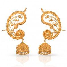 Divine Gold Earring -malabar jewellers