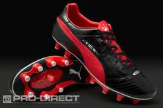 Puma Football Boots - Puma King Finale SL i FG - Firm Ground - Soccer Cleats - Black-Rosso Corsa-Puma Silver