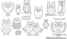 Our Favorite. Hoot Owls! Print, Transfer and Sew! Its that's easy!!!