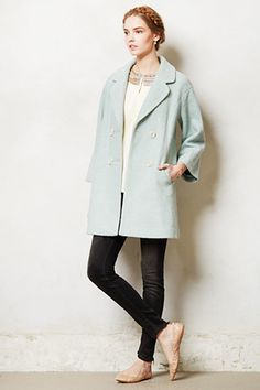 ELEVENSES CLOVELLY TRAPEZE COAT, $228 12 Coat Trends To Warm Up To #refinery29 pastel coat