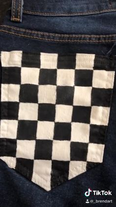 checkered jeans - i was boring in quarentine 🥴 - Diy Clothes And Shoes, Custom Clothes, Diy Clothes Jeans, Diy Clothes Videos, Clothes Refashion, Diy Videos, Painted Jeans, Painted Clothes, Diy Clothes Paint