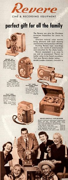 1951 ad for Revere reel to reel tape recorder in Reel2ReelTexas.com's vintage recording collection