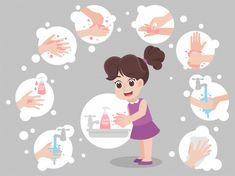 Prevention tips infographic of coronavirus 2019 ncov. wearing face mask, washing hands with soap, sneezing cover mouth and nose with tissue. concept of flu outbreak Kids Learning Activities, Kindergarten Activities, Hand Washing Poster, Art Drawings For Kids, School Posters, Sewing Patterns Free, Cartoon Styles, Classroom Decor, Clip Art