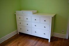 ikea hemnes dresser for nursery :)