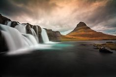 Kirkjufell and Kirkjufellsfoss. One of the most iconic places in Iceland.