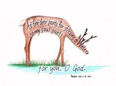 Image detail for -Deer Scripture Art Design by LindaRobbsArt on Etsy