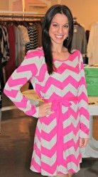 Pink & Grey Chevron Dress @Filicia Frank