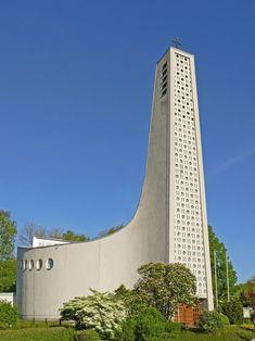 "Church ""Heilige Familie"" (1961) in Dortmund, Germany. Architect unknown."