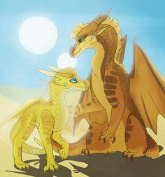 sunnee and thorn by PepsiLord on DeviantArt Wings Of Fire Dragons, Got Dragons, Clay Dragon, Dragon Art, Fantasy Creatures, Mythical Creatures, Manga Dragon, Fire Fans, Beautiful Dragon