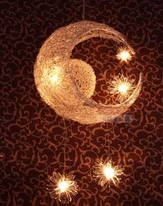 Moon and stars chandelier.